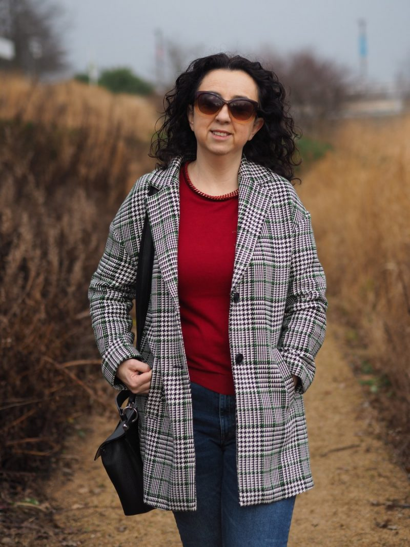 Statement coat & over 40's bloggers