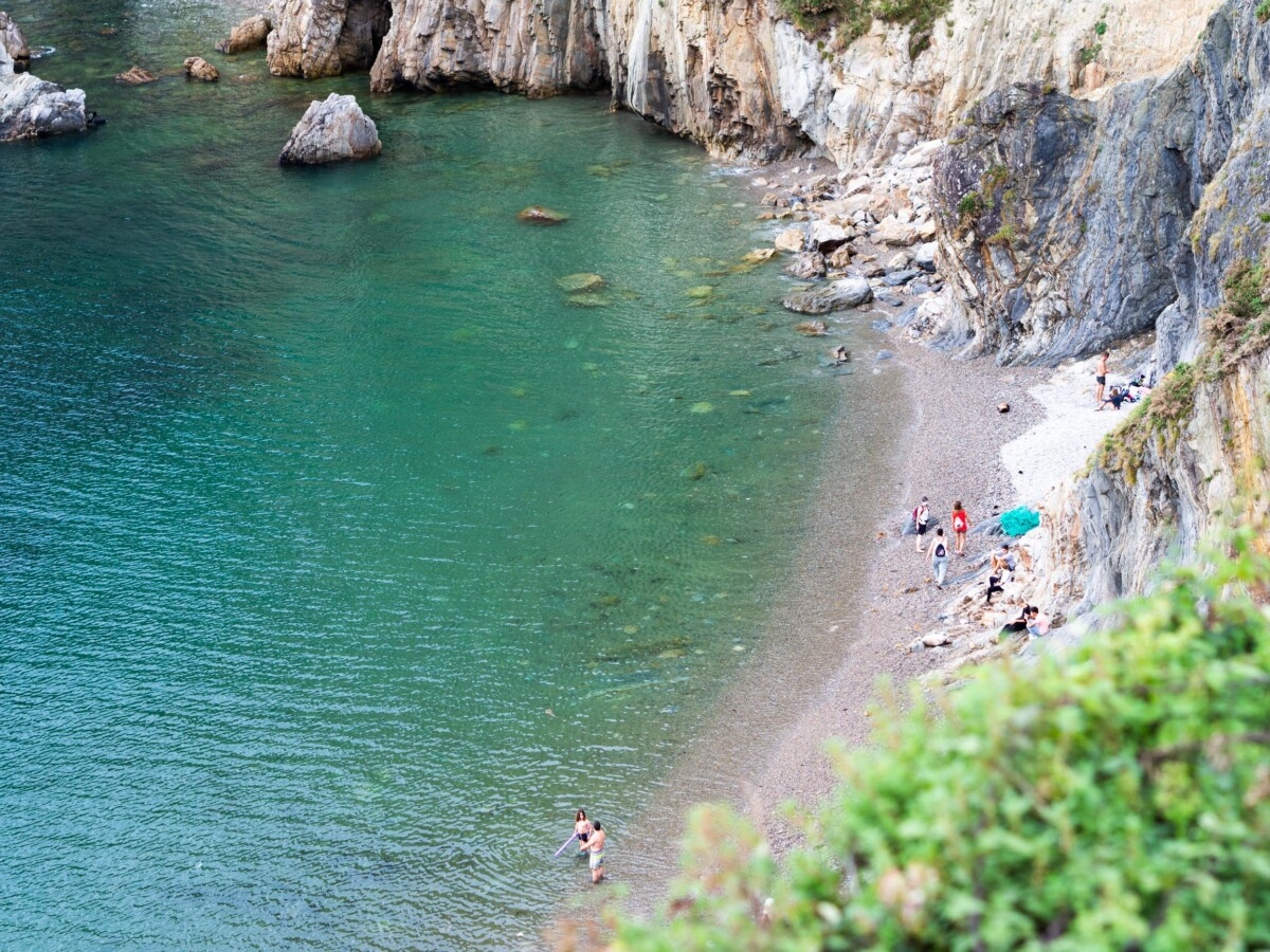 Playa del Silencio beach view from above